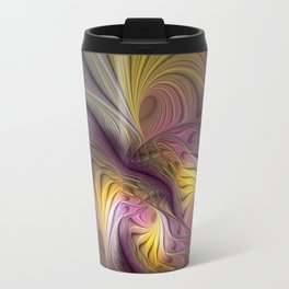 Unity, Abstract Colorful Fractal Art Travel Mug
