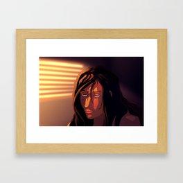 Sunset Blues Framed Art Print