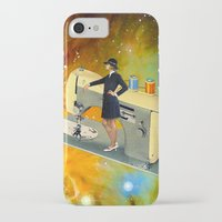 spaceship iPhone & iPod Cases featuring Barbara's Spaceship by Eugenia Loli