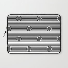 Concentric Circles and Stripes in Black and White Laptop Sleeve