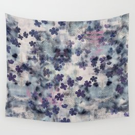 Night Blossom All Over Floral Print Wall Tapestry