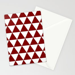 TRIANGLES (MAROON & WHITE) Stationery Cards
