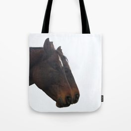 Twin Horses Photography Print Tote Bag