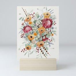 Fall Protea Bouquet Mini Art Print