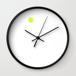 Forget Calm and Smash it Tennis Player T-Shirt Wall Clock