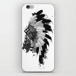 black and white headdress iPhone Skin