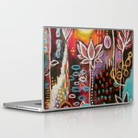 new year Laptop & iPad Skins featuring New Year by kristenheinlein