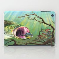 clueless iPad Cases featuring Large Mouth Bass and Clueless Blue Gill Fish by Sonya ann