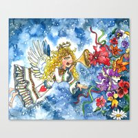 angel Canvas Prints featuring Angel by Shelley Ylst Art