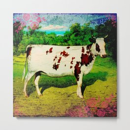 Happy Cow Metal Print