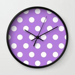 Lavender Polka Dots Wall Clock