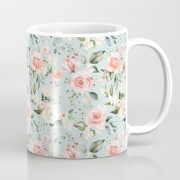 Pink Blush Cream Flowers He Is Risen As He Said Easter Quote Coffee Mug