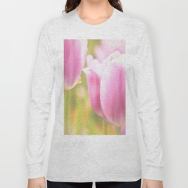 Spring is here with wonderful  colors - close-up of tulips flowers Long Sleeve T-shirt