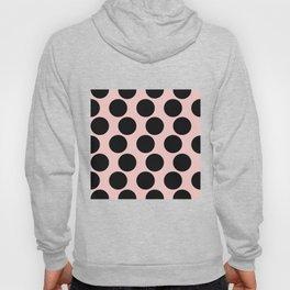 Millennial Pink Brown Dots Hoody