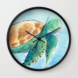 Sea Turtle Waterolour Wall Clock