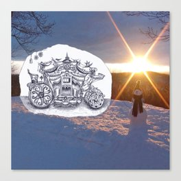 Travel with Mr Snowman Canvas Print