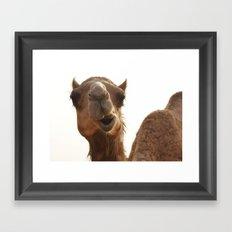 I am smiling! Framed Art Print