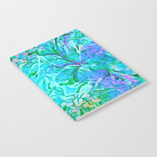 Tropical Breeze Floral Abstract Notebook