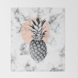 Marble Pineapple 053 Throw Blanket