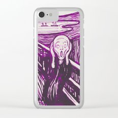 The Scream's Haze (purple) Clear iPhone Case