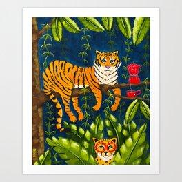 The Jungle Tiger Art Print