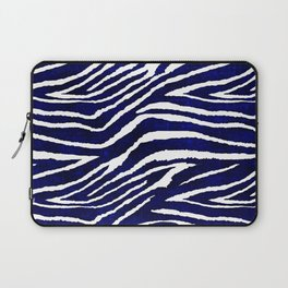 Animal Print: Zebra Blue and White Laptop Sleeve