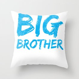 Big Brother Again Gift Promoted to Big Brother New Baby Sibling Throw Pillow