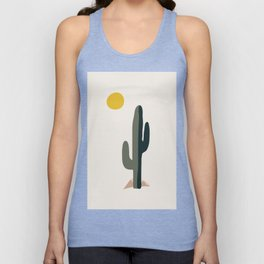 Cactus and the Rising Sun Unisex Tank Top