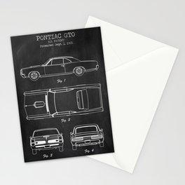 Pontiac GTO patent print. Pontiac GTO chalkboard poster Stationery Cards
