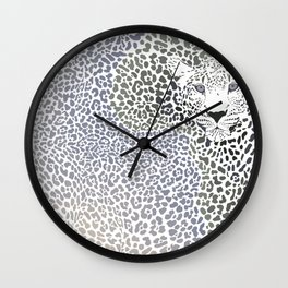 African leopard - Background of the continent map Wall Clock
