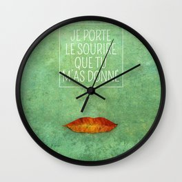 your smile Wall Clock