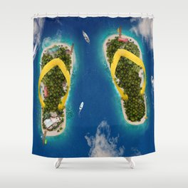 Flip Flop Islands Shower Curtain