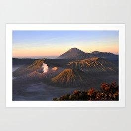 Volcano Mount Bromo at sunrise, East Java, Indonesia, Asia Art Print