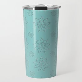 3D Texture Turquoise - Pointilism Pattern Travel Mug