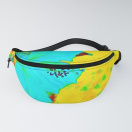 Tropical Vibrance in Hibiscus Fanny Pack