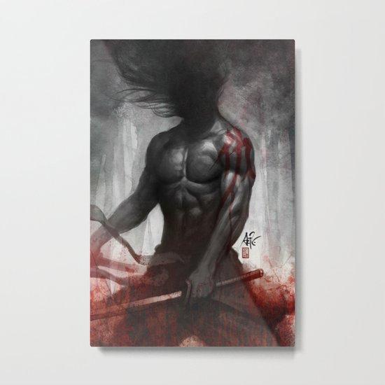 Samurai Vengeance Metal Print