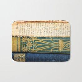 Antique Book Textures Bath Mat