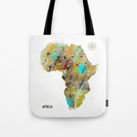 africa Tote Bags featuring Africa by bri.buckley