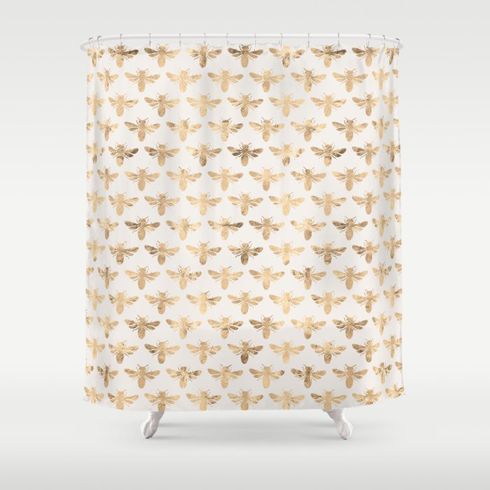 Honey Bees Sand Shower Curtain By Newserenity