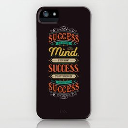 Lab No. 4 Success Is Joyce Brothers Life Inspirational Quote iPhone Case