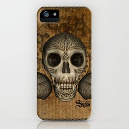 Awesome skulls with celtic knot iPhone Case