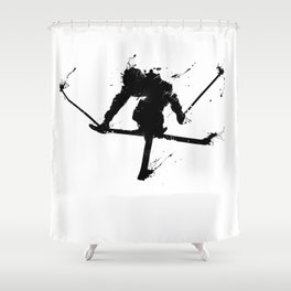 Ski jumper Shower Curtain