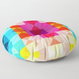 Panes - Colorful Decorative Abstract Art Pattern Floor Pillow