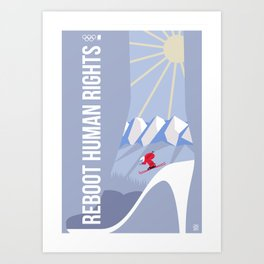 Winter games Art Print