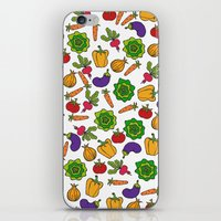 vegetables iPhone & iPod Skins featuring Vegetables by Alisa Galitsyna