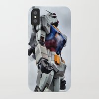 gundam iPhone & iPod Cases featuring Gundam Pride by Julie Maxwell