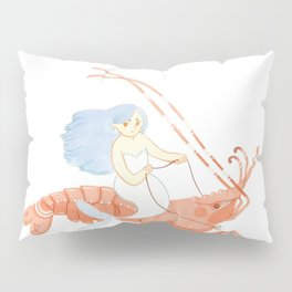 The Magnificent Shrimp Rider Pillow Sham
