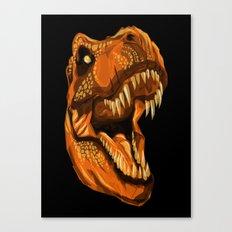 Geometric T-Rex Canvas Print