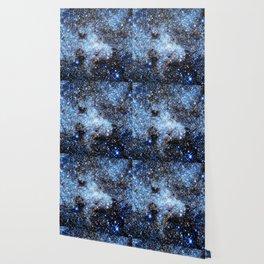 Blue gAlaxY Sparkle Stars Wallpaper