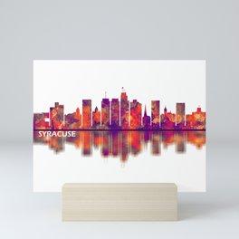 Syracuse USA Skyline Mini Art Print